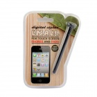 Universal Nail Style Touch Stylus Pen for iPhone / Samsung - Musta