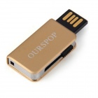 Ourspop OP-34 librito estilo USB 2.0 Flash Drive - oro (16GB)