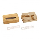 SAMDI 2639C Charging Station for IPHONE 6/5S/5C/4S/4 - Golden + Wood