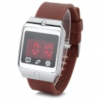 Bearcat Fashion Silicone Band Touch Screen Digital LED Watch w/ Red Backlight - Brown (1 x CR2032)