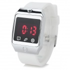 Fashion Silicone Band Touch Screen Digital LED Watch w/ Red Backlight - White (1 x CR2032)