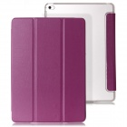 Mr.northjoe 3-Fold Protective PU Leather Case w/ Stand / Auto Sleep for IPAD AIR 2 - Purple