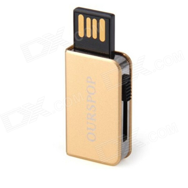 Ourspop OP-34 Little Book Style USB 2.0 Flash Drive - Golden (8GB)