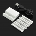 1-Slot Charging Dock Station + 4 Holders + Charging Cable Set for Sony Xperia Z3 / L55T - White