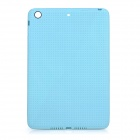 Grid Pattern Protective TPU Back Case for IPAD MINI 3 - Light Blue