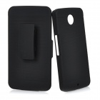 2-in-1 Protective ABS Back Case Cover for Motorola NEXUS 6 - Black