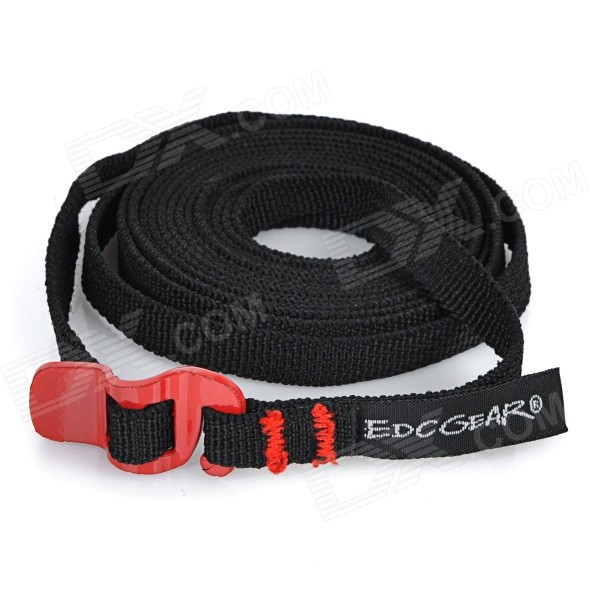 EDCGEAR Multi-Function Steel Tying Band Stainless Black + Red