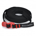 EDCGEAR Outdoor Sports Multi-Function Tying Band w/ Stainless Steel Hook Buckle - Black + Red
