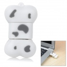 Cartoon Silicone Dog Bone Style USB 2.0 Flash Drive - White + Grey (16GB)