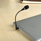 16cm Mini Microphone w/ Flexible Neck & 3.5mm Jack Plug - Black