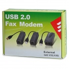 USB 2.0 56K V.92 / V.90 External Data Fax Modem - черный