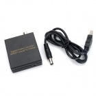 Coaxial to Optical Digital Audio Converter - Black (5V~12V)