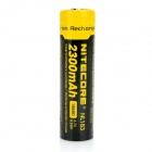 NiteCore 3.7V / 2300mAh Rechargeable 18650 Li-ion Battery - Black + Yellow