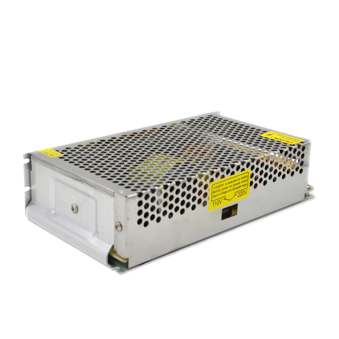 12V 20A Switching Power Supply - SilverLED Power Drivers<br>Model250-12MaterialAluminumForm  ColorSilverQuantity1 DX.PCM.Model.AttributeModel.UnitWater-proofNoInput Voltage220 DX.PCM.Model.AttributeModel.UnitOutput Voltage12 DX.PCM.Model.AttributeModel.UnitOutput Current20 DX.PCM.Model.AttributeModel.UnitInput Current1~10 DX.PCM.Model.AttributeModel.UnitRated Working Voltage220 DX.PCM.Model.AttributeModel.UnitWorking Current1~5 DX.PCM.Model.AttributeModel.UnitCertificationCEOther FeaturesBuilt-in EMI filter, good anti-interference effect; Low working temperature; Long lifespan.Packing List1 x Switching power supply<br>