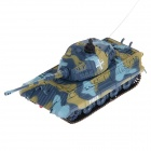 40MHz 5-CH 1:72 Scale German King Tiger Radio Control Tank - Blue + Yellow