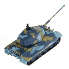 40MHz 5-CH 1:72 Scale German King Tiger R/C Tank - Blue + Yellow