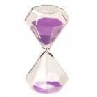 SL-002 Creative 5-Minute Hourglass / Sand Glass Timer - Purple + Transparent