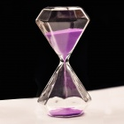 SL-002 5-Minute Hourglass / Sand Glass Timer - Purple + Transparent