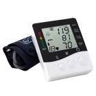 B01R Arm Style Electronic Blood Pressure Meter - White + Black (2 x AAA)