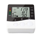 B01R Arm Style Electronic Blood Pressure Meter - White + Black (2*AAA)