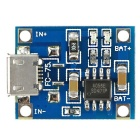 TP4056 DIY 1A Micro USB Li-Ion Battery Charging Board Charger Module - Blue