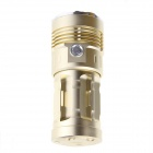 UltraFire 3-mode 7-LED Warm White 6500lm Flashlight Torch - Golden