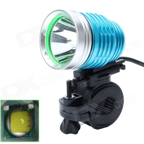 ZHISHUNJIA 880lm 6-Mode White USB Powered Bike Headlamp - Blue