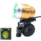 ZHISHUNJIA 360' Rotating 880lm 6-Mode White LED 3.7~8.4V USB Powered Bike Headlamp - Golden + Silver