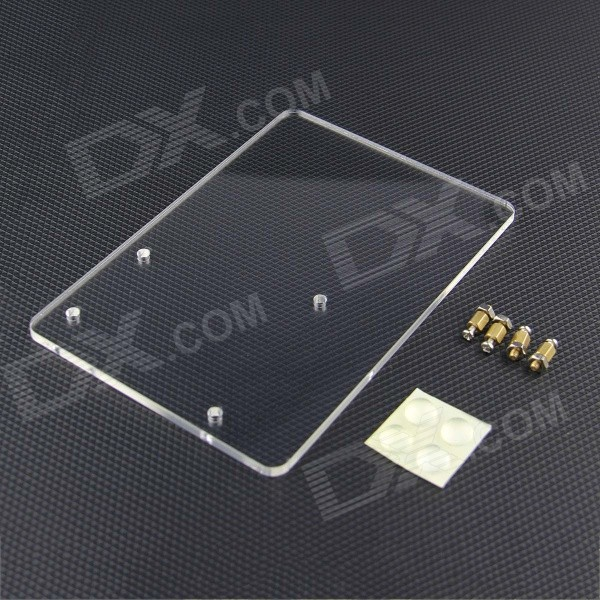 Acrylic Experimental Platform Plate for Arduino UNO R3 - TransparentOther Accessories<br>Form  ColorTransparentModelN/AQuantity1 pieceMaterialAcrylicEnglish Manual / SpecNoDownload Link   N/APacking List1 x Acrylic plate1 x Installation screws pack4 x Silicone mats<br>