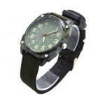 W-13 Men's Sports Outdoor Nylon Belt Quartz Analog Wrist Watch - Army Green (1 x LR626)