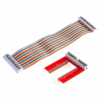 GPIO U-Shaped Expansion Board + 40-Pin Cable for Raspberry Pi - Red