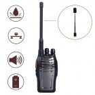 Baiston BST-3300 6W 16-CH 400~470MHz Professional Walkie Talkie w/ Flashlight , VOX - Black