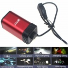 ZHISHUNJIA USB Back-up AA / 14500 Batteries Power Box for Bike Headlight - Red + Black