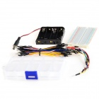 400-Hole breadboard board + cables + resistencias + leds - multicolores