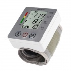 003 Wrist Style Electronic Blood Pressure Monitor - White + Gray (2 x AAA)