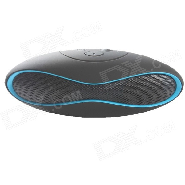 X6 Mini Portable Bluetooth V3.0 Speaker w/ TF Slot - Black + Blue