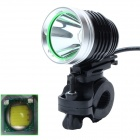 ZHISHUNJIA 360' Rotating 880lm 6-Mode White LED 3.7~8.4V USB Powered Bike Headlamp - Black + Silver
