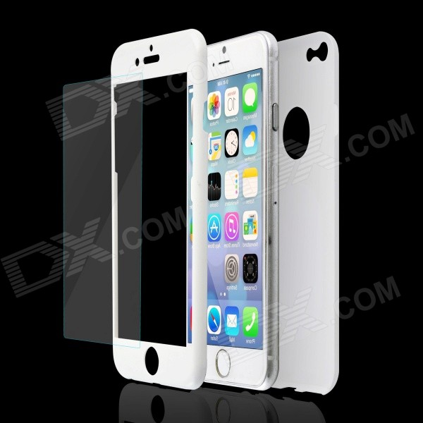 Plastic Full Body Shell + Screen Protector for IPHONE 6 / 6S - White