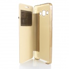 Flip Open Case w/ Visual Window for Samsung Galaxy A5 - Golden