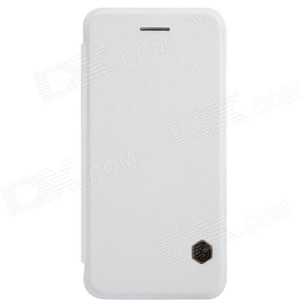 NILLKIN QIN Series Protective PU Leather + PC Flip Open Case w/ Stand for IPHONE 6 Plus - White