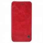 NILLKIN QIN Series Protective PU Leather + PC Flip Open Case w/ Stand for IPHONE 6 Plus - Red