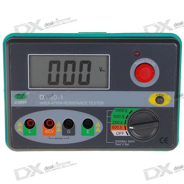 DY30-1 Professional 2.7 LCD 1000V Digital Insulation Resistance Tester