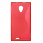 Protective Soft Silicone Back Case for DOOGEE DG550 - Red