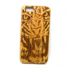 Tiger Pattern Detachable Protective Bamboo Back Case for IPHONE 6 - Yellow + Brown