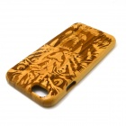 Tiger Pattern Detachable Bamboo Case for IPHONE 6 - Yellow + Brown