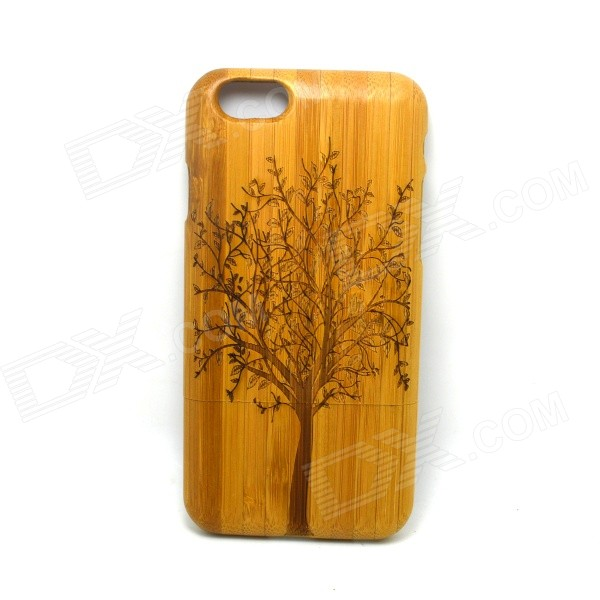 Tree Pattern Detachable Bamboo Back Case for IPHONE 6 - Yellow
