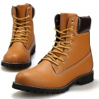 Men's Fashionable Stylish PU Leather Ankle Martin Boots Shoes - Brown (Size 42 / Pair)