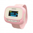 "Children's GSM Smart Watch Phone w/ 1.1"" Screen, LBS, Call, Clock, SOS - White + Pink"