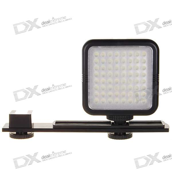 SYD-0808 64-LED 480LM Continuous Lighting for Camera and Camcorder (4*AA)