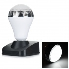 BL05 E27 6W 300lm 20-LED Colorful Light Bulb / Bluetooth V4.0 Speaker - White + Silver